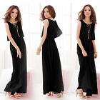 Womens Elegant Round Neck Sleeveless BOHO Evening Cocktail Casual Dress