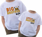 BIG & LITTLE BROTHER CONSTRUCTION T-SHIRT SET DIGGER MUD DIRT BUILD  WITH NAME
