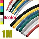 2:1 Ratio Heat Shrink Heatshrink Tubing Tube Sleeve Sleeving Wrap 1M 8 color