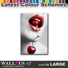Cherry Lips sexy EROTIC  Canvas Print Framed Photo Picture Wall Artwork WA
