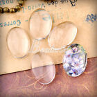 Love Heart Round Oval Square Clear Glass Cabochon Findings  Lots Wholesale