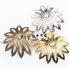 200/1000pcs Wholesale Assorted Iron Sun Flower Charms End Caps Jewelry Making