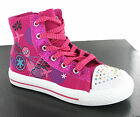 Airtech Fushia Pink Hi-Top Fashion Canvas Glitter Girls Boots Pumps Size 8-2