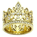 Ladies Queen Royal Crown Gold EP Cocktail Ring Size 6 And 9