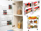 SWIVEL STORE CABINET ORGANISER / 4 TIER WALL SPICE RACK / 3 TIER KITCHEN TROLLEY