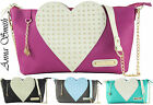 Ladies Anna Smith Designer Tote Shoulder Studs Heart Satchel Handbag Skull Charm