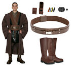 Star Wars Costume Bundle - Anakin Tunic, Brown Jedi Robe, Belt, Boots+ from UK