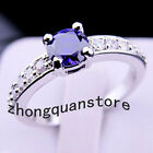 Z019 Jewellery Brand new amethyst lady's 10KT white Gold Filled Ring sz6/7/8/9