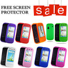 SILICONE RUBBER SOFT CASE COVER FOR NOKIA C6-00 + SCREEN PROTECTOR