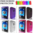 Hex Diamond Shape Case Cover for Sony Ericsson X10 Mini + Screen Protector