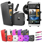 4 in 1 Pack for New HTC One 2013 Case Cover Car Charger Car holder Accessories