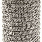 "Metal Round Mesh Snake Chain - 3.2mm Bracelet w/ Clasp - 7'',16"", 18"" or 5y Roll"