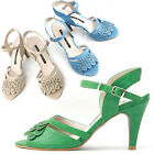 New Stylish Womens Ankle Strap Sandal High Heel Summer Shoes Multi Colored