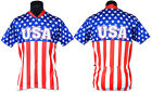 USA STARS AND STRIPES TEAM CYCLING JERSEY NEW ** MED & LRG ONLY