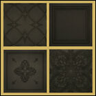 Decorative Texture Ceiling Tiles In Black Different Patterns Easy Installation