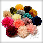 9cm Large Satin Silky Fabric Flower Hair Clips Grips Prom Bridesmaid Bridal Wed.