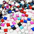 SQUARE Shape Acrylic Rhinestones Flat Back Nail Art , Crafts , Card Making Gems