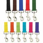 Dog Puppy Nylon Leash Lead - 4 & 6 foot - Zack & Zoey - 11 Colors, 3 Sizes