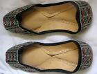 TAN LEATHER BOLLYWOOD JUTTI SLIPPER FANCYSHOES KHUSSA MOJRI BEADED INDIAN CHOOSE