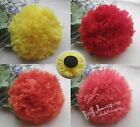Upick Big Organza Ribbon Flowers Appliques Wedding Decoration Supply DIY RB095