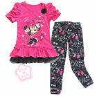 Girl Minnie Mouse Top Dress+Kid Star Pants Leggings 2PC Outfit Clothes 3-7 Years