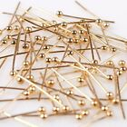 1000/5000pcs Fashion Ball Headpins Copper KC Golden Charms Pins Findings 5 Sizes