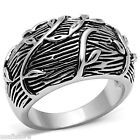 Flower Leaves Silver Rhodium Plated No Stone Ladies Ring