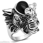 Elephant Black Hat Silver Rhodium EP Ladies Ring