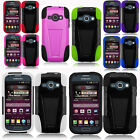 """For Samsung """"Prevail 2"""" Advanced HYBRID KICKSTAND Dual Rubber Case Phone Cover"""