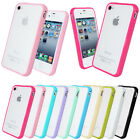 SILICONE GEL FROSTED TPU BUMPER GLOSSY PHONE CASE COVER FOR APPLE IPHONE 5 5G