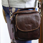 New Brown Cow Leather Mini Messenger Shoulder Bag Fanny Waist Wallet Purse