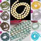 5-6mm Colors Freeform Shape Cultured Rice Oval Freshwater Pearl Loose Beads DIY
