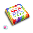 Personalised RAINBOW STRIPES, Multi Coloured Wedding Favour Chocolates