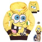 Toddlers Kids Boys Girls SpongeBob Funny Hoodies Clothes Aged 2-8Years