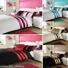 LUXURY DUVET COVER WITH PILLOW CASE QUILT COVER PLEATED BEDDING SET ALL SIZES