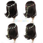 Boho Lady Floral Flower Festival Wedding Garland Forehead Hair Head Band BF4U