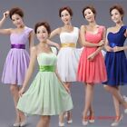 New Elegant Padded Short Mini Bridesmaid Prom Party Evening Dress For Wedding