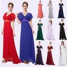 Sexy Ladies V-Neck Long Sleeves Evening Bridesmaid Party Dress 09890 Size 06-18