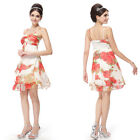 Ever Pretty Sexy Romantic Floral Printed Chiffon Summer Dresses 03184