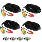 4 X 10/20M/30M/40M 131.2FT CCTV Security Surveillance BNC RCA Camera Video Cable
