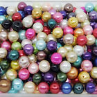 Mixed Glass Pearl Round Loose spacers beads Choose 4mm,6mm,8mm,10mm,12mm DIY G03