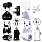 MiCRO USB MAiNS TRAVEL CAR CHARGER ADAPTOR DATA CABLE FOR HP HTC MODELS