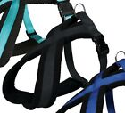 Black Soft Padded Dog Harness All Sizes Fabric Fleece Trixie