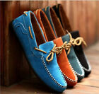 New British Men Suede Casual Lace Slip On Loafer Shoes Moccasins Driving Shoes