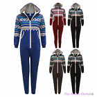 KIDS BOYS AZTEC PRINT ALL IN ONE HOODED JUMPSUIT JUNIOR ONE SET PYJAMAS AGE 8-14