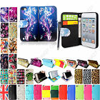 FOR APPLE IPOD TOUCH 5 5TH GEN BOOK SIDE PRINTED LEATHER FLIP CASE COVER +STYLUS