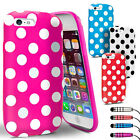 POLKA DOTS Soft Silicone Gel Case Cover Skin for NEW iPhone 5C Screen Protector