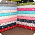 Big and Small Stars Fabric FAT QUARTER 100% Cotton Extra Wide Patchwork & Craft.
