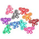 25/125pcs Charms Colorful Acrylic Faux Rubber Heart Bowknot Pendants Findings