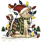 CAT WRAPPED IN CHRISTMAS LIGHTS- HOLIDAY .CHRISTMAS  CAT SWEATSHIRT-S-5X